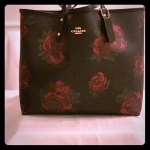 Barely Used  Multicolored Reversible COACH Tote.